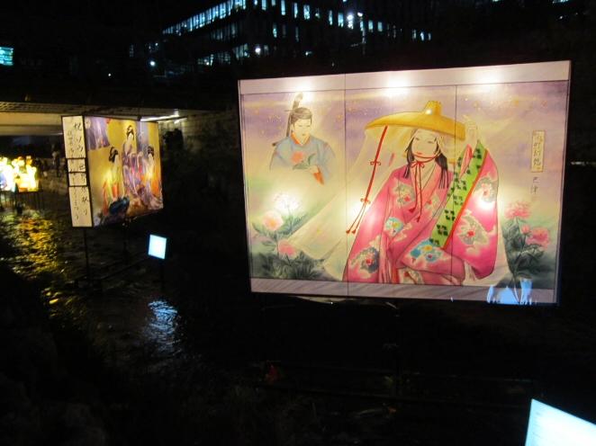 Japanese themed lanterns for Seoul lantern festival 2012
