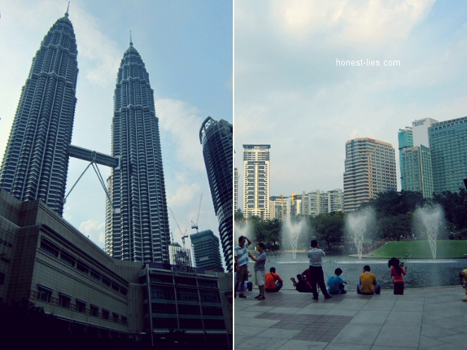 KLCC Suria and fountains in front of it