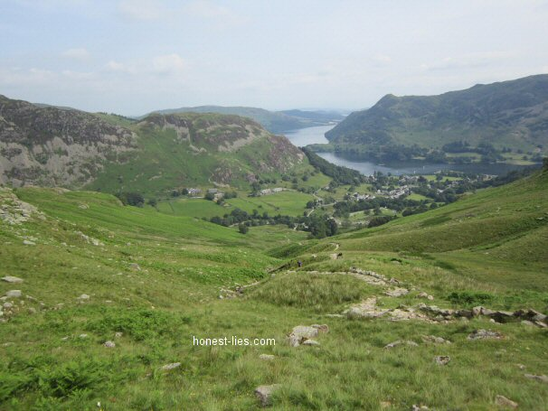 Looking back onto Ullswater