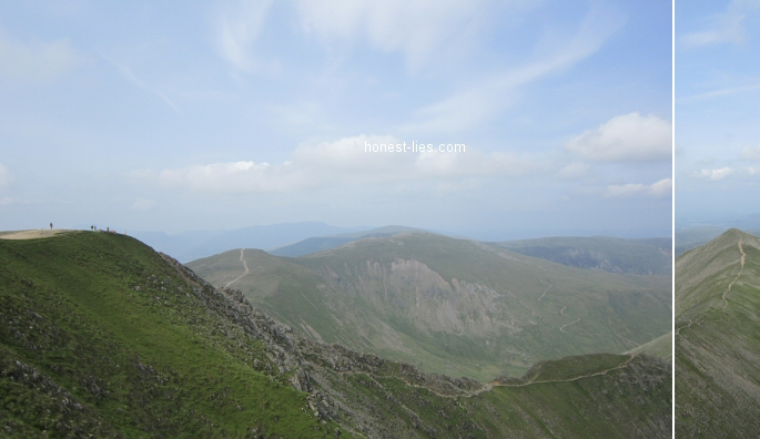 The walk from Catstye Cam to Helvellyn