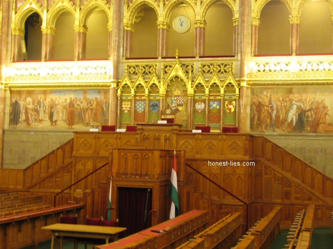 Inside the Hungarian Parliament Building